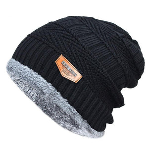 Polar Fur-lined Knitted Beanie