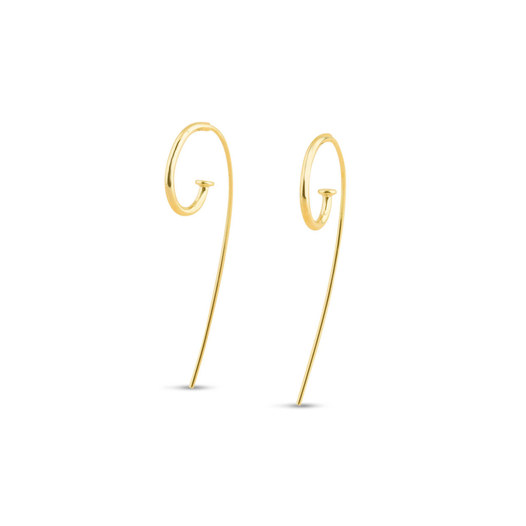 Medium Jagger Hoop Earrings in 9ct Gold