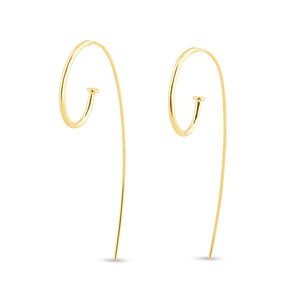 Bold Jagger Hoop Earrings in 9ct Gold