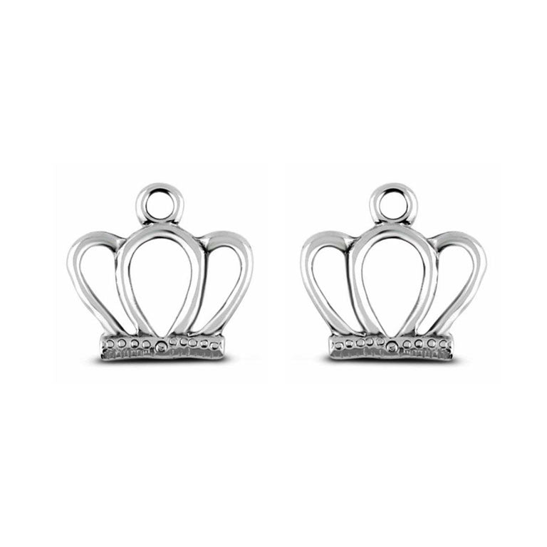 Sterling Silver Crown Earring Charms