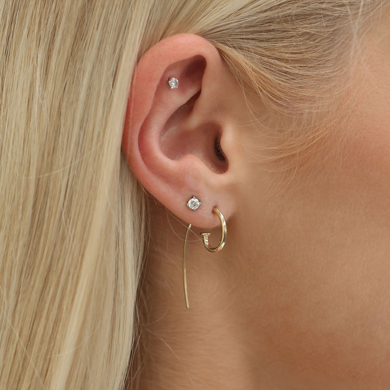 Petite Jagger Hoop Earrings in 9ct Gold