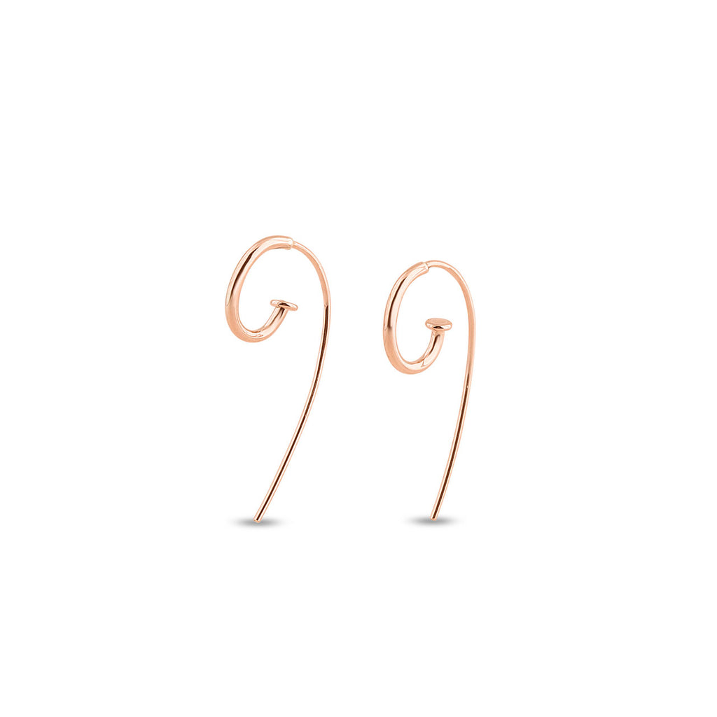 Petite Jagger Hoop Earrings in 9ct Rose Gold