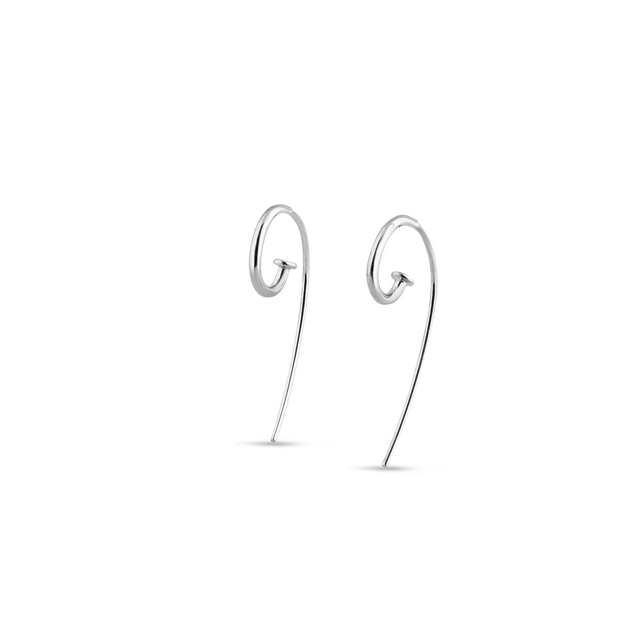 Petite Jagger Hoop Earrings in Sterling Silver