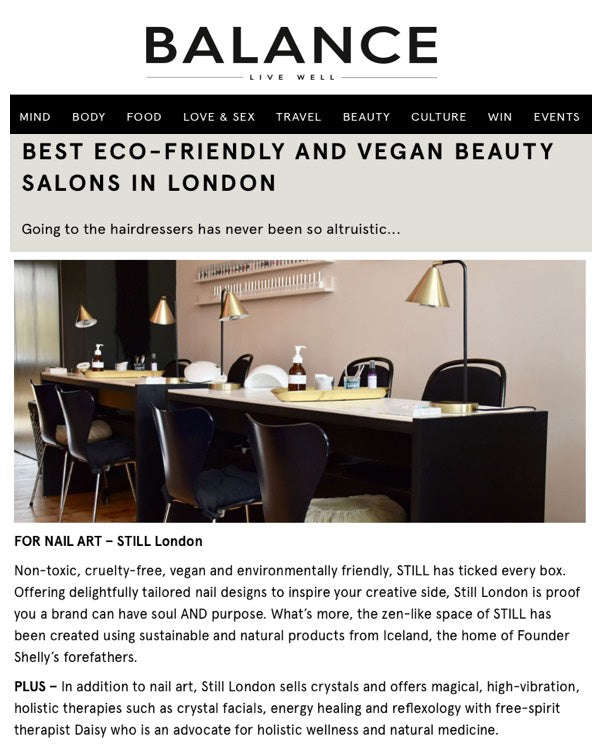 BALANCE REVIEW - BEST ECO-FRIENDLY AND VEGAN BEAUTY SALONS IN LONDON.........
