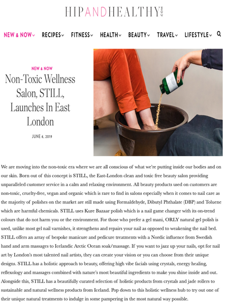 Non-Toxic Wellness Salon, STILL, Launches In East London