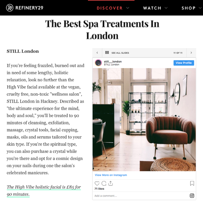 The Refinery - The Best Spa Treatments in London
