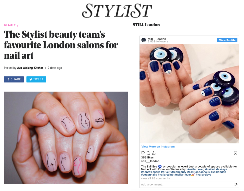 The Stylist Beauty Team - Best London Salons for Nail Art Review