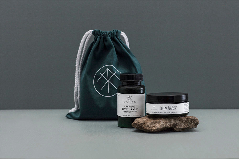 still london - Organic Icelandic Salt Bath Set - 2 Pack Travel Set - angan skincare - toxic free
