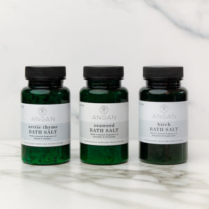 still london - Organic Icelandic Bath Salts Set - 3 Pack Travel Set - angan skincare - non toxic