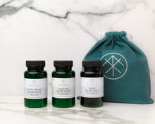 Load image into Gallery viewer, still london - Organic Icelandic Bath Salts Set - 3 Pack Travel Set - angan skincare - non toxic