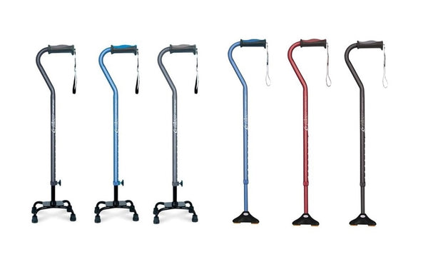 Size Guide - Airgo Comfort-Plus Quad Walking Stick Range - Think Mobility
