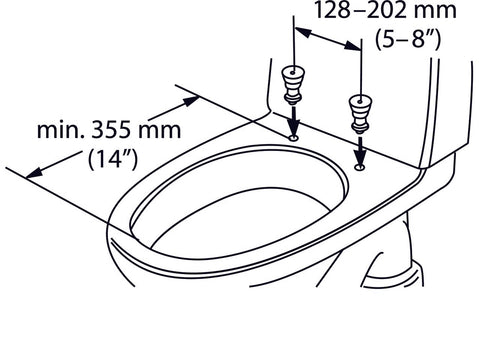 Etac Hi Loo Fixed With Arm Support Toilet Seat Raiser Height 10cm