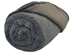 Therapy Premium Weighted Blanket (Adult) Micro Plush Cover Space Grey 7Kg [Adlt-Blkt-Gr-Ap-7] - Think Mobility