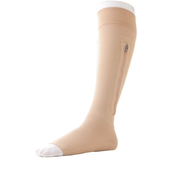 Jobst Ulcercare B/knee Stockings Left Leg Zipp  O/t, Size X-Large  [73631-24]