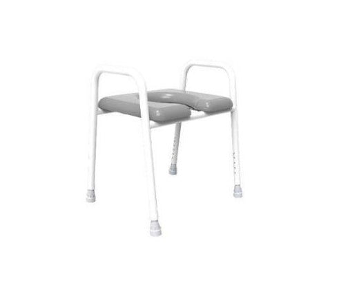 Over Toilet Frame 52Cm - 3 In 1 Commode W/pan With Open Front Padded Seat [1222355P] - Think Mobility