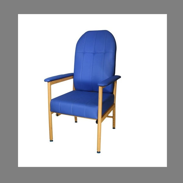 Chair Murray Bridge R & R High Back 45Cm Vinyl Blue [18002Hab] - Think Mobility