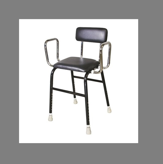 Kitchen Propping R & R Stool Black With Back Rest [18100] - Think Mobility