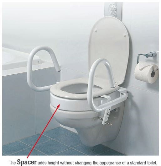 Toilet Spacer 80Mm With Bracket Throne Accessories [Sp80]
