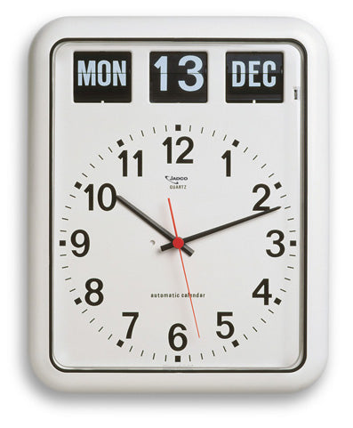 Calendar Clock Jadco Time Analogue Wall Gst [Bq12]