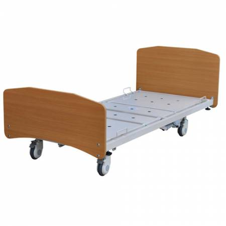 Bed Alrick 6001 Series Hi Low Single With Abb And Central Locking (Beech) Swl 200Kg [6001Imp] - Think Mobility