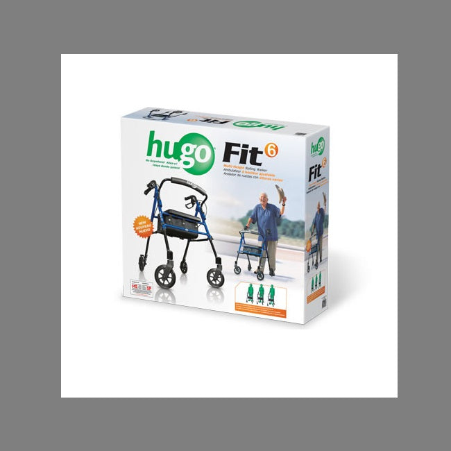Hugo Fit 6 Rollator Pacific Blue [700-913]