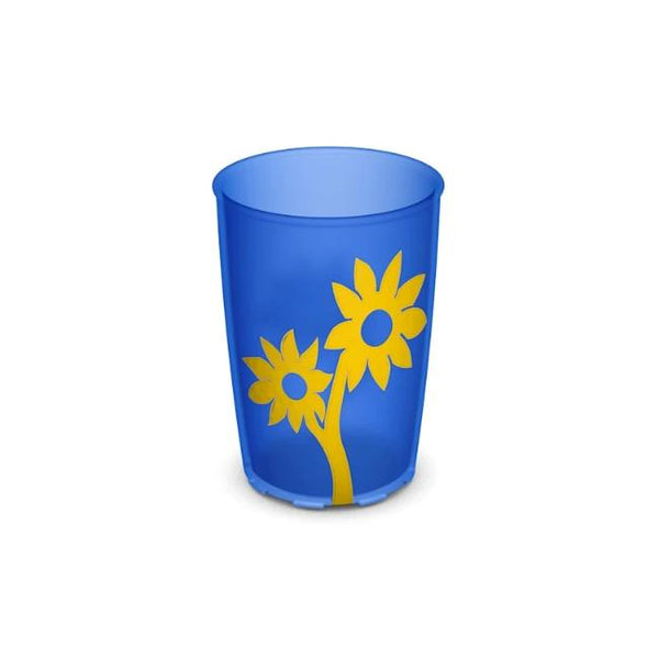 Ornamin Non Slip Cup Flower Blue/yellow [8711] - Think Mobility