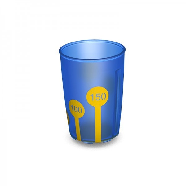 Ornamin Non Slip Cup Measuring Icon Blue/yellow [5941] - Think Mobility