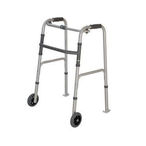 Walking Frame Folding Peak Care Swl 130 Kg Wheels/skis 10180Sl [9346376060417] - Think Mobility