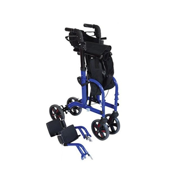 Aidapt Rollator Duo Deluxe Transit Chair Blue [Vp184B] - Think Mobility