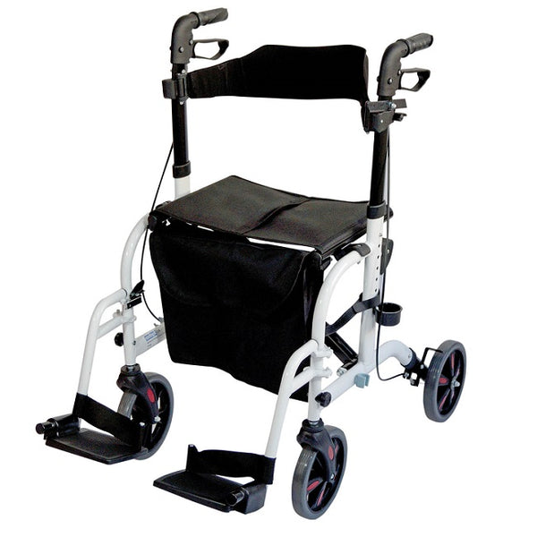 Aidapt Rollator Duo Deluxe Transit Chair White [Vp184W] - Think Mobility