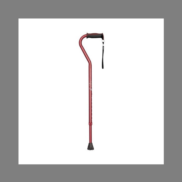 Airgo Comfort-Plus Aluminium Cane Offset Handle Burgundy [730-450] - Think Mobility