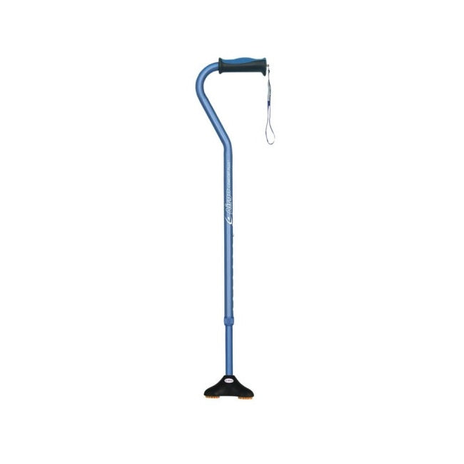 Airgo Comfort-Plus Offset Cane With Miniquad Ultra-Stable Tip Blue [730-859] - Think Mobility