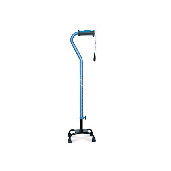 Airgo Comfort-Plus Small Base Quad Cane - Blue [770-852] - Think Mobility