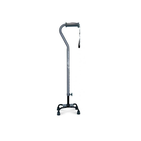 Airgo Comfort-Plus Small Base Quad Cane - Charcoal [770-856] - Think Mobility