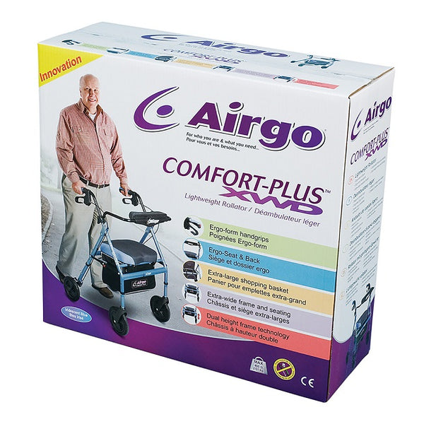 Airgo Comfort-Plus Xwd Rollator (Bariatric) - Iridescent Blue [700-949] - Think Mobility