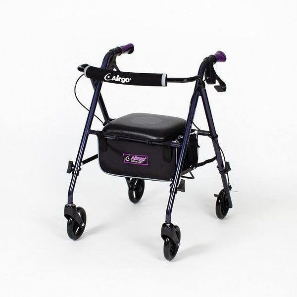 Airgo Ultra-Light Rollator- Eggplant [700-950] - Think Mobility