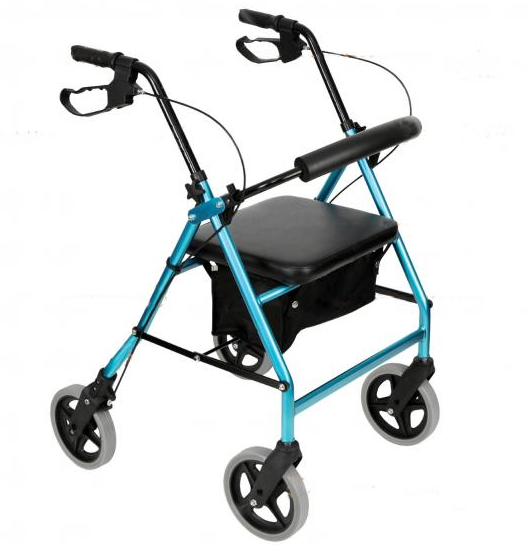 "Walker Freedom Quad Deluxe 8"" Small  [Br0202-X] - Think Mobility"