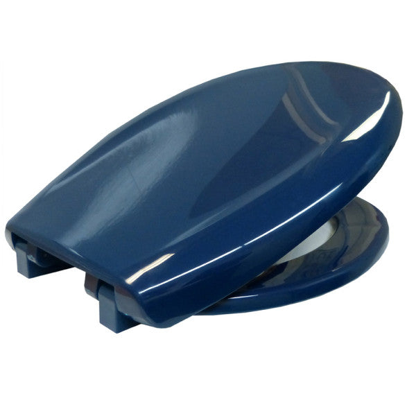 Bemis Coloured Toilet Seat With Lid Blue [Ts108052604] - Think Mobility