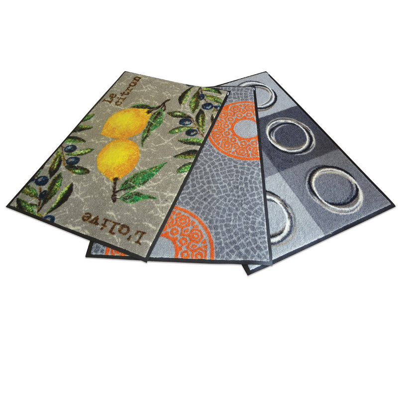 Indoor Rubber Backed Mat - Solid - 450 X 700 Mm, Novis, Rings [Rm-4570-Ri] - Think Mobility