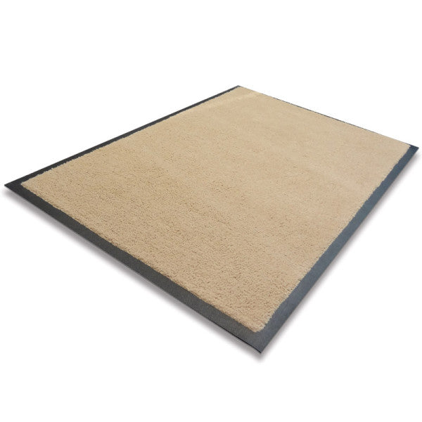 Indoor Rubber Backed Mat - Solid - 450 X 700 Mm, Novis, Beige [Rm-4570-Be] - Think Mobility