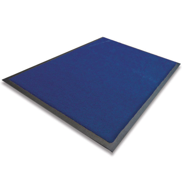 Indoor Rubber Backed Mat Blue
