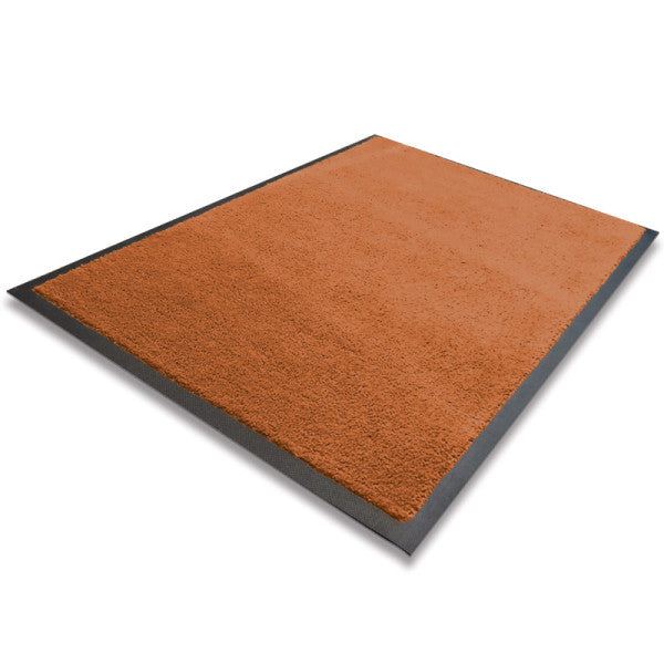 Indoor Rubber Backed Mat - Solid - 600 X 850 Mm, Novis, Brown [Rm-6085-Br] - Think Mobility