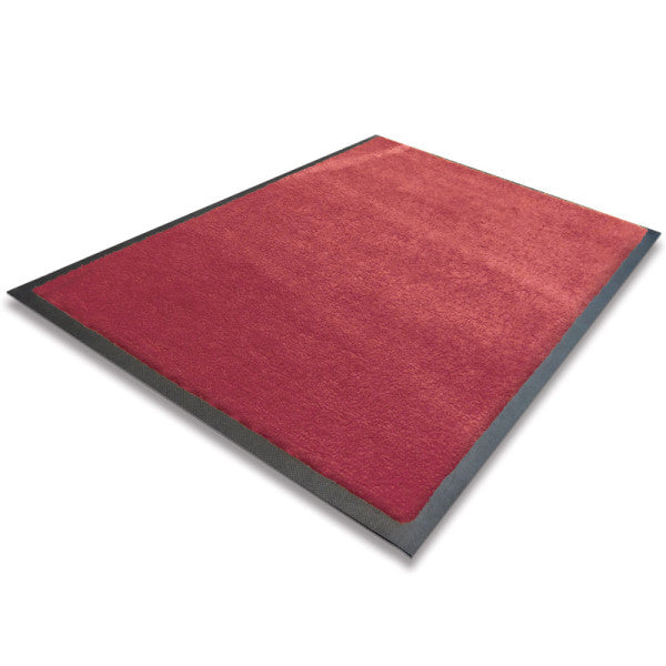 Indoor Rubber Backed Mat - Solid - 450 X 700 Mm, Novis, Red [Rm-4570-Rd] - Think Mobility