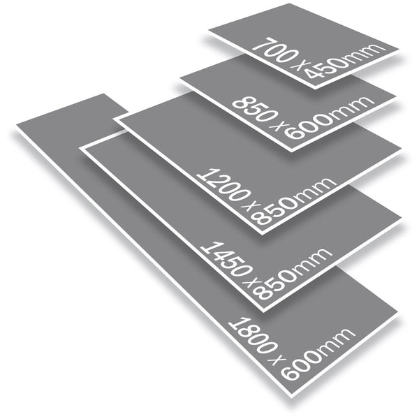 Indoor Rubber Backed Mat - Solid - 600 X 850 Mm, Novis, Grey [Rm-6085-Gy] - Think Mobility