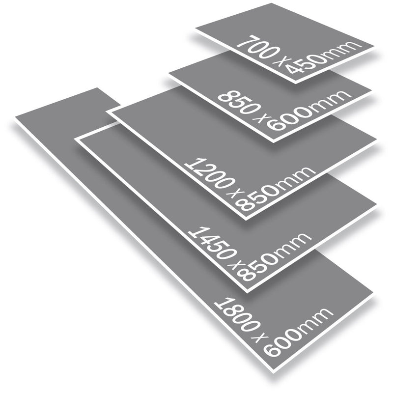 Indoor Rubber Backed Mat - Solid - 450 X 700 Mm, Novis, Grey [Rm-4570-Gy] - Think Mobility
