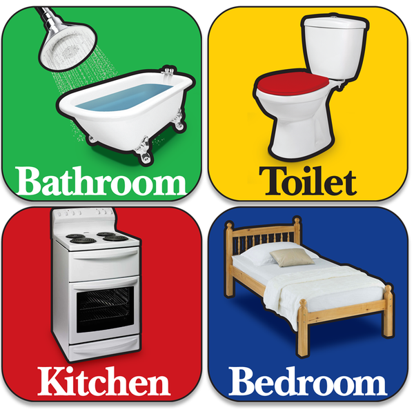 Betterliving Orientation Signage Bathroom Sticker Green [Bl0036Shba] - Think Mobility