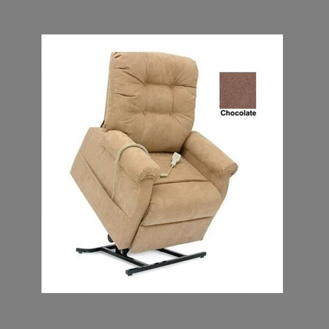 Lift Chair Pride C101 Buttom Back Single Motor Cocoa Fabric [C101Cb] - Think Mobility