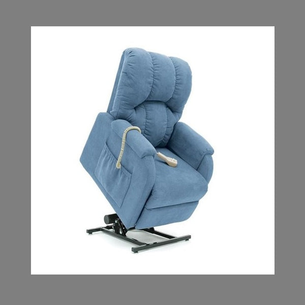 Lift Chair Pride C1 Single Motor Petite Artic Blue Fabric [C1Ab] - Think Mobility