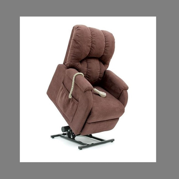 Lift Chair Pride C1 Single Motor Petite Chocolate Fabric [C1C] - Think Mobility