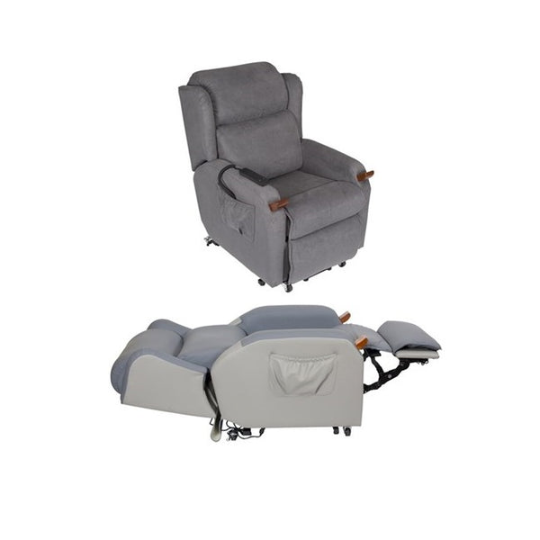 Lift Chair Air Comfort Compact Dual Motor Small Macrosuede [Ac59062] - Think Mobility